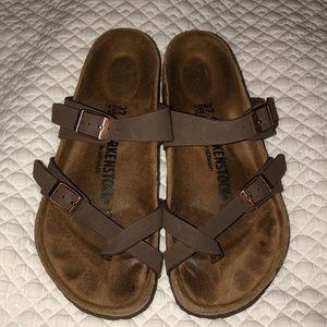 Birkenstock mayari birko- flor brown sandals 37=6